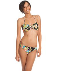Trina Turk Tahitian Floral Shirred Side Hipster multicolor - Lyst