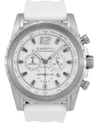 Orefici Watches - Ibrido Chronograph Watch With Rubber Strap - Lyst