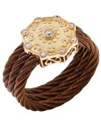 Charriol | Women's Celtique Rose 18k Gold And Bronze-tone Diamond .13tcw Ring | Lyst