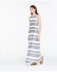 Ann Taylor Striped Halter Maxi Dress - Lyst