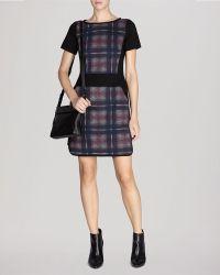 Karen Millen Dress - Roma Check Print Ponte - Lyst
