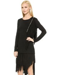 Jay Ahr Fringe Top - Black - Lyst