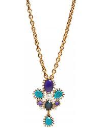 Oscar de la Renta Star Brooch Necklace Star Brooch Necklace - Lyst