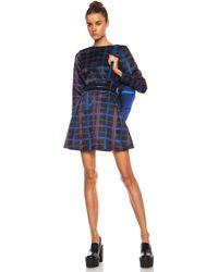 Kenzo Neon Plaid Poly Dress - Lyst