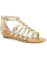 Sam Edelman 'Donna' Leather Gladiator Sandal - Lyst