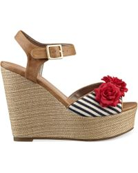 Pink And Pepper - Tiara Platform Wedge Sandals - Lyst