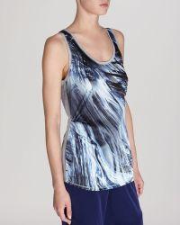 Karen Millen Tank - Brushstroke Print - Lyst