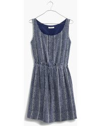 Madewell Paperbag Tank Dress In Batik Stripe - Lyst