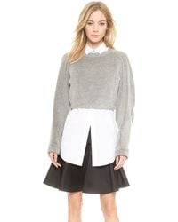Viktor & Rolf Cropped Sweater  Grey - Lyst