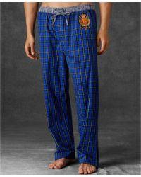 Ralph Lauren Polo Mens Yarndyed Plaid Woven Pajama Pants - Lyst