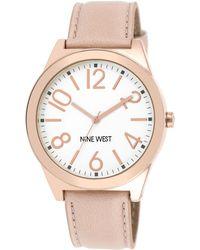 Nine West Women'S Pink Strap Watch 42Mm Nw/1660Svpk - Lyst