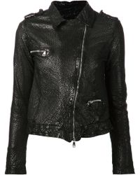 Giorgio Brato Perforated Biker Jacket - Lyst