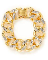 Kenneth Jay Lane Crystal Chain Bracelet - Lyst