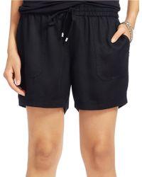 Lauren by Ralph Lauren - Drapey Drawstring Shorts - Lyst