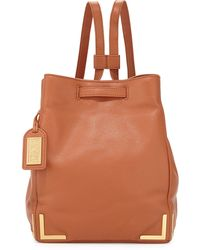 Badgley Mischka - Linda Pebbled-leather Backpack - Lyst