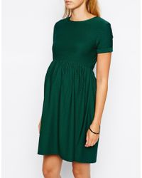 Asos Maternity Exclusive Skater Dress In Texture - Lyst