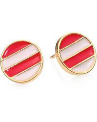 Kate Spade Spot The Shore Stud Earrings pink - Lyst