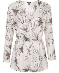 Topshop Oversized Floral Print All-In-One - Lyst