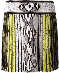 Roberto Cavalli Pleated Skirt - Lyst