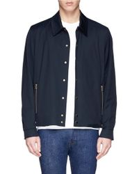 PS by Paul Smith Cotton Blend Hopsack Blouson Jacket - Lyst