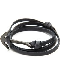 Miansai Anchor Leather Wrap Bracelet - Lyst
