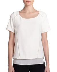 Cooper & Ella Layered Short-Sleeve Top - Lyst