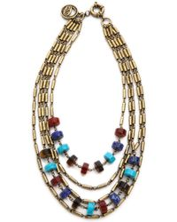 Giles & Brother Multi Color Stone Bundle Necklace Multi - Lyst