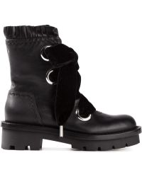Alexander McQueen Black Lace-up Boots - Lyst