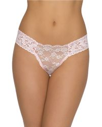 Hanky Panky Roses And Chiffon Low-Rise Thong - Lyst