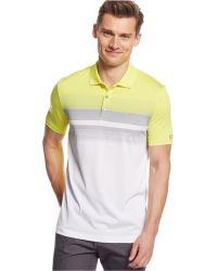 Calvin Klein Engineered Chest-Stripe Jersey Polo yellow - Lyst