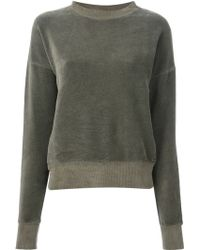 Diesel Ribbed Collar Sweatshirt - Lyst