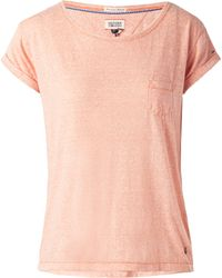 Tommy Hilfiger Amelie Scoop Neck Top - Lyst