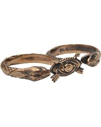 Pamela Love - Duel Double Finger Ring - Lyst