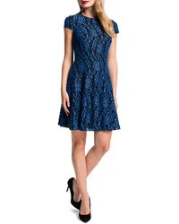 Cynthia Steffe Delphine Lace Fit-and-flare Dress - Lyst
