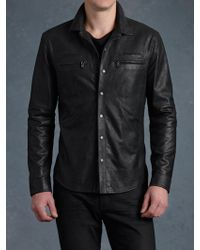 John Varvatos Zipper Pocket Shirt Jacket - Lyst