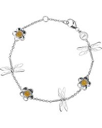 Theo Fennell - Sterling Silver And Blue Jade Dragonfly Bracelet - Lyst