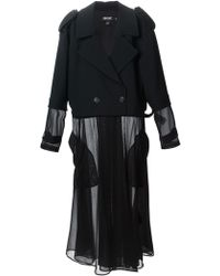 DKNY Sheer Long Trench Coat - Lyst
