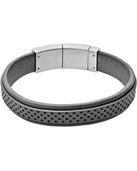 Skagen | 'vinther' Perforated Leather Bracelet | Lyst