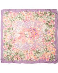 Ferragamo Floral Print Scarf - Lyst