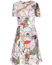 Mary Katrantzou Chrono Ss Silk And Cotton Dress - Lyst