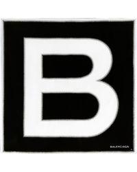 Balenciaga B Twill Scarf black - Lyst