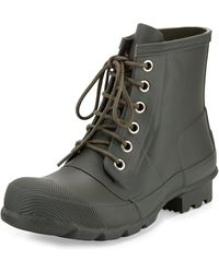 Hunter Short Laceup Welly Boot - Lyst
