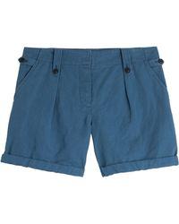 Burberry Brit Carlby Cotton-Linen Shorts - Lyst