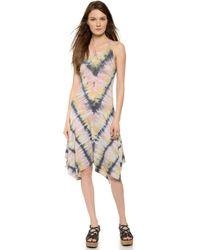 Raquel Allegra Handkerchief Tank Dress - Pink Tie Dye - Lyst