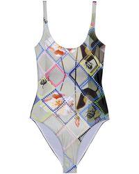 Preen Slogan Scoop-Back Swimsuit - Lyst