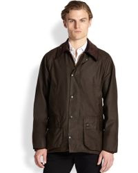 Barbour Beaufort Waxed Jacket - Lyst