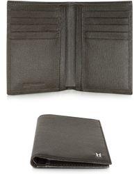 Moreschi - Dark Brown Leather Men's Vertical Wallet - Lyst
