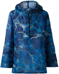 Issey Miyake Abstract Print Hooded T-Shirt - Lyst