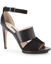 French Connection Black Walda Pumps - Lyst
