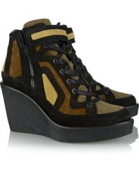 Pierre Hardy Suede Wedge Sneakers - Lyst